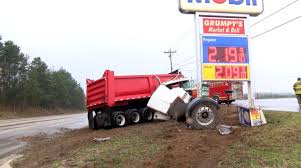 Video: Dump Truck Crashes To Avoid Hitting Teen Driver | WKEF