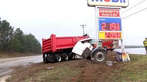 100 Truck Crashes Video Dump Truck Crashes To Avoid Hitting Teen Driver WKEF