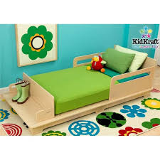 kidkraft Modern Wooden Toddler Bed Very low to ground Built in