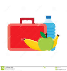 Download Lunch Break Or Time Box With School Stock Vector