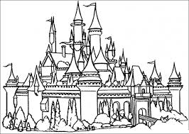 Disney Castle Coloring Pages 10 Cinderella World Free