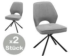 nele stuhl 2er set 180 drehbar stühle esszimmerstühle grau