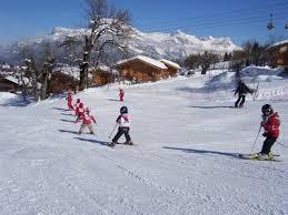 location de petits chalets sur les pistes de ski de megève