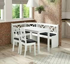 details zu eckbank xeli i set mit 2 stühle und tisch esszimmer set erleholz sitzgruppe weiß