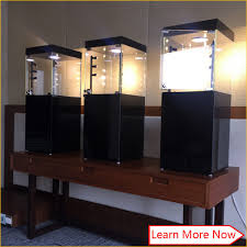 customized high end elegent jewelry display cabinets with led lighting