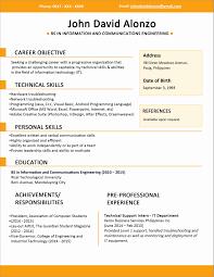 Resume Format For Freshers Bank Job Beautiful Sample Targergolden