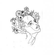 1002x1024 Flower Sketch Tumblr Flowers Drawing