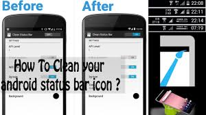 how to clean status bar icon on android smartphone Easily