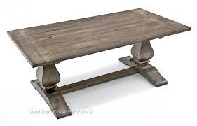 Unique Design Rustic Gray Dining Table Pretty Inspiration Trestle Base Reclaimed Wood Tuscan Old