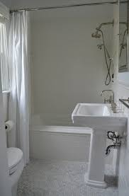 Kohler Archer Pedestal Sink by Suzie One Story Building Chic Bathroom With Kohler Archer Drop