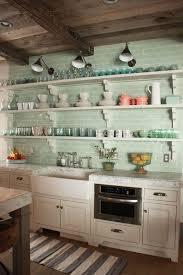 Aqua Colored Subway Tiles For Kitchen Decor