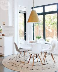 Round Rug Under Dining Table Fantastic Room And Best 20