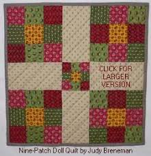 Nine Patch Quilt Patterns for Babies and Dolls