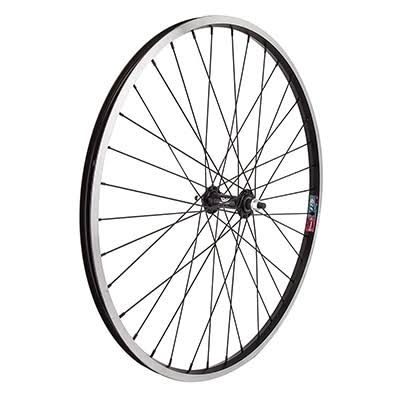 "Wheel Master MTB Front Wheel - 26""x1.5"", 3/8"" Bolt-On Hub, Black"