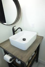 Ikea Hack Vessel Sink by Ikea Hack Diy Bathroom Sink Base Household No 6