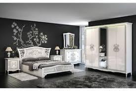 details zu italienisches schlafzimmer komplett vintage 6 teilig weiß hochglanz