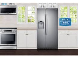 shop samsung 22 3 cu ft counter depth side by side refrigerator
