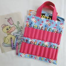 Kids Crayon Coloring Book Carrier New And Holder