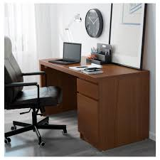 malm desk brown stained ash veneer 551 8x255 8 140x65 cm
