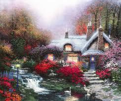Thomas Kinkade Christmas Tree Cottage by Cottages