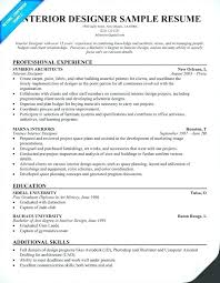 Sample Resume For Designer Jobs And Floral Interior Samples Across All