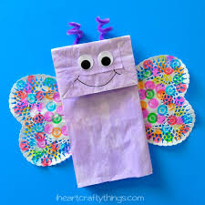 How To Make A Paper Bag Butterfly Kids Craft