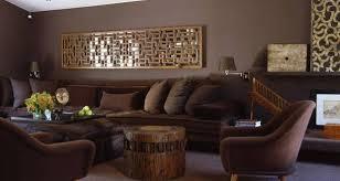 wohnzimmer braun wandgestaltung ideen freshouse