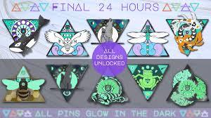 100 Elemental Seattle Animals Magical Glow In The Dark Enamel Pins By