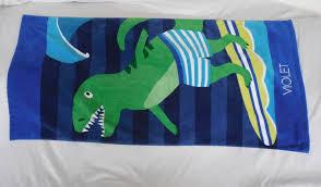 Pottery Barn Kids Classic Dino Mini Beach Towel