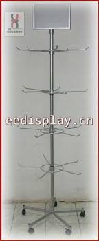 New Christmas Supermarket Sales Promotion Ornaments Display Rack Shop Retail Metal Wire Hanger Spinning Key