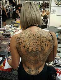 Female Back Tattoo