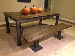 Rustic Industrial Kitchen Table Dining Tabl On Desk Loft Style Take Sawhors