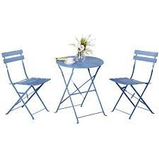Grand Patio Premium Steel Bistro Set Folding Outdoor Furniture Sets 3 Piece