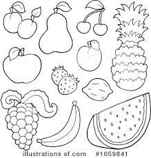 Fruit clipart balck white 14