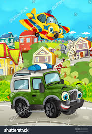 Cartoon Funny Looking Off Road Truck Stock Illustration 690390037 ...