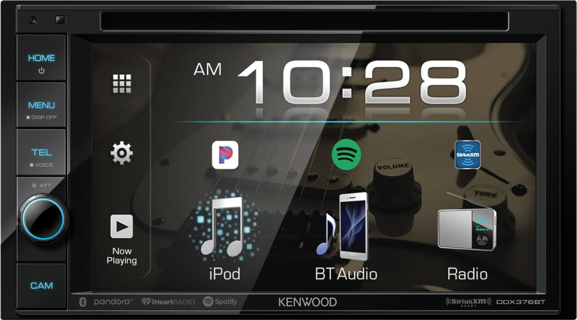 "Kenwood DDX376BT 6.2"" Double-DIN In-Dash DVD Receiver with Bluetooth & SiriusXM Ready"