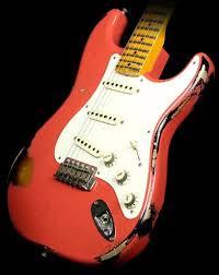 Fender Custom Shop 57 Heavy Relic Stratocaster Guitar Faded Fiesta Red Sunburst