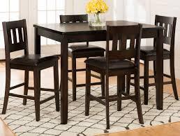 Dark 5 Piece Counter Height Dining Set