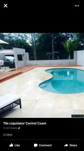 Pool Waterline Tiles Sydney by Travertine Tiles Around The Pool Timbo Decking Google Search