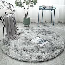 shaggy teppich hochflor langflor pluschteppich runder tie dye nachbildung rutschfeste waschbar bodenmatte fur wohnzimmer flauschig shaggy schlafzimmer
