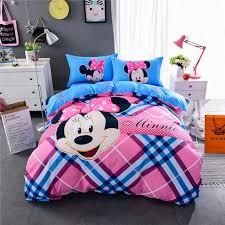 Minnie Mouse Twin Bedding pink blue stripe minnie mouse print bedding set quilt duvet covers