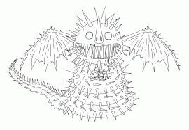 How To Train Your Dragon Coloring Pages Thunder Drum