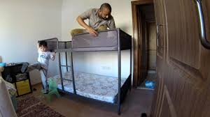 Bunk Bed With Desk Ikea Uk by Time Lapse Build Ikea Tuffing Bunk Bed Youtube