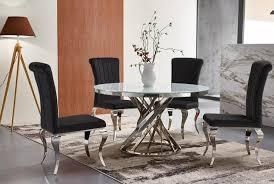 rom barock designer esstischstuhl esszimmerstuhl essstuhl esszimmer stuhl edelstahl samt schwarz