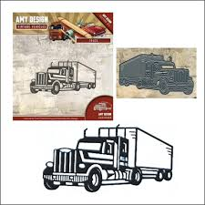 Semi Truck Metal Die Cut By Amy Design Dies ADD10099 | Inspiration ...