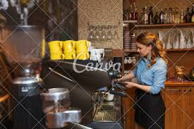 Barista Woman Making Coffee