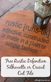 Commercial Use Rustic Definition Cut File FreebieFriday By Cuttingforbusiness Silhouette Cricut
