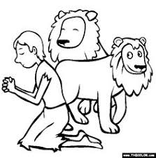 Daniel In The Lions Den Coloring Page For Kids