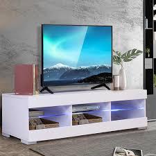 57 abnehmbare led tv einheit schrank steht mit 6 öffnen