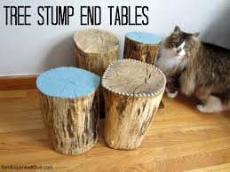 tree stump end tables stephanie marchetti sandpaper u0026 glue a